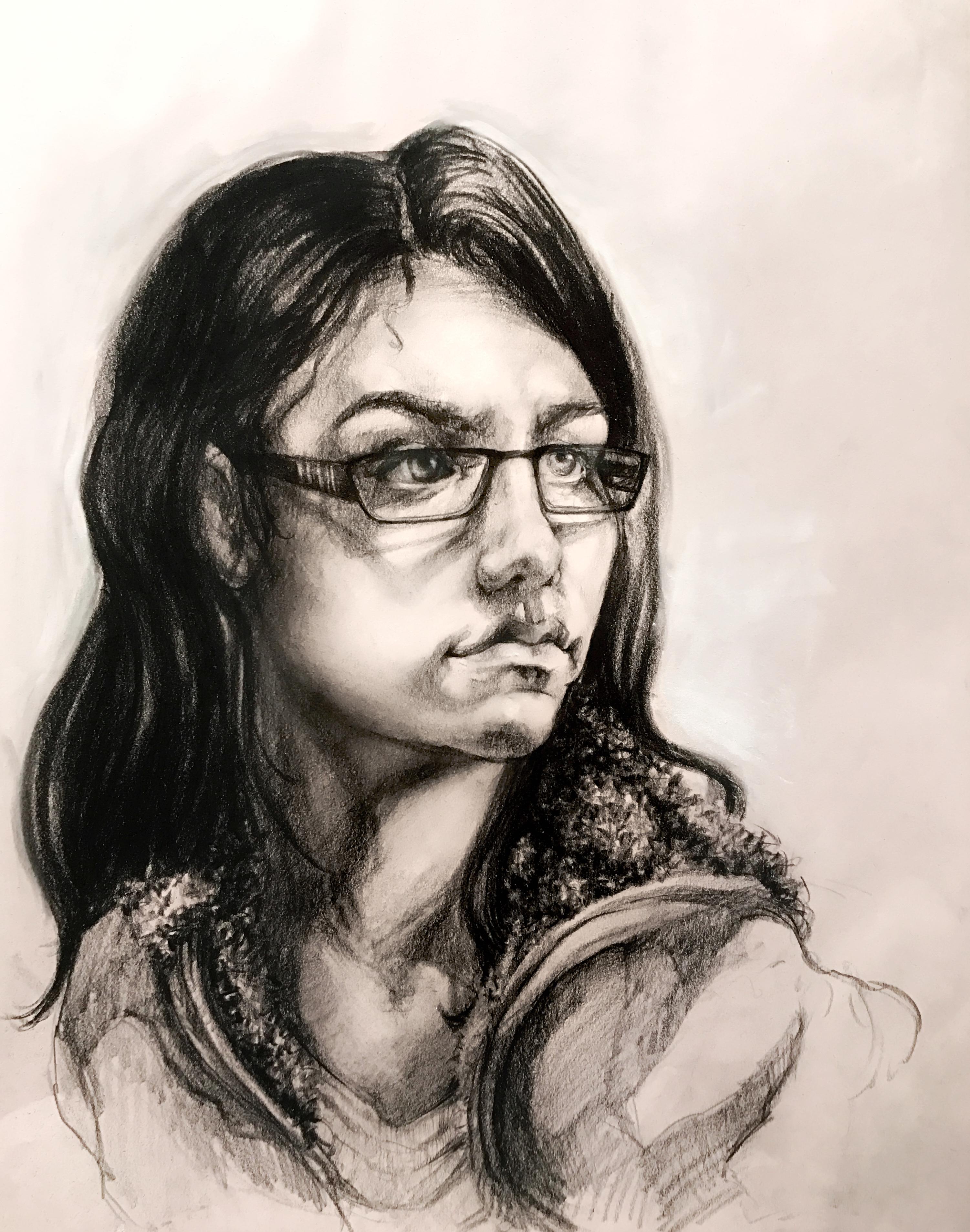 Andrea. Charcoal. 18x24